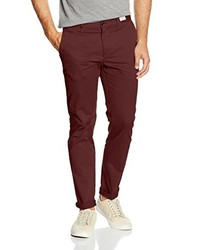 Pantalon chino bordeaux Tommy Hilfiger