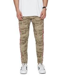 Pantalon chino camouflage marron clair