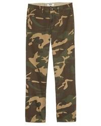 Pantalon chino camouflage olive