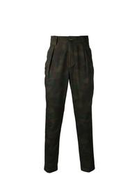 Pantalon chino camouflage olive Etro