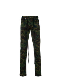 Pantalon chino camouflage olive Off-White