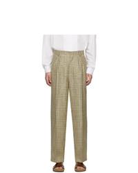 Pantalon chino écossais beige