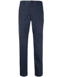 Pantalon chino écossais bleu marine Comme Des Garcons Homme Plus