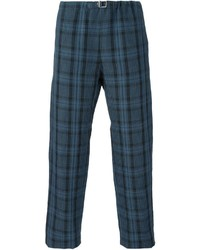 Pantalon chino écossais bleu marine Paul Smith