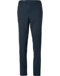 Pantalon chino écossais bleu marine Raf Simons