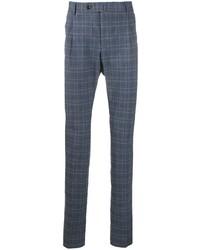Pantalon chino écossais bleu