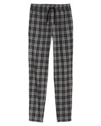 Pantalon chino écossais gris foncé