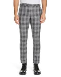 Pantalon chino écossais gris