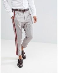 Pantalon chino écossais gris ASOS DESIGN