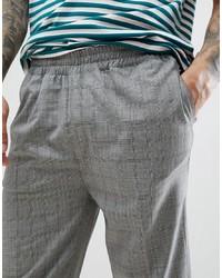 Pantalon chino écossais gris Bellfield