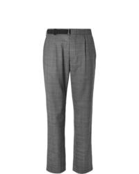 Pantalon chino écossais gris Maison Margiela