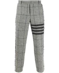 Pantalon chino écossais gris Thom Browne