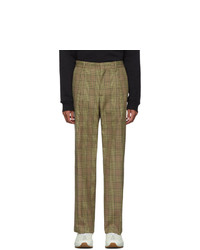 Pantalon chino écossais marron