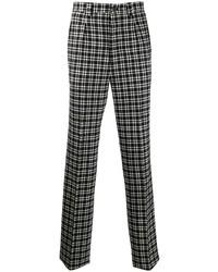 Pantalon chino écossais noir et blanc Givenchy