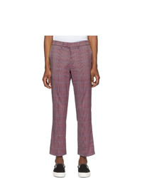 Pantalon chino écossais pourpre