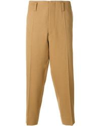 Pantalon chino en laine beige