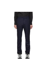 Pantalon chino en laine bleu marine Burberry