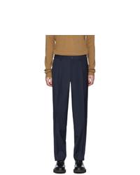 Pantalon chino en laine bleu marine Etro