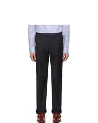 Pantalon chino en laine bleu marine Gucci
