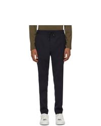 Pantalon chino en laine bleu marine Hugo