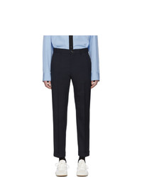 Pantalon chino en laine bleu marine Marni