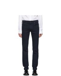 Pantalon chino en laine bleu marine Prada