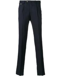 Pantalon chino en laine bleu marine Pt01