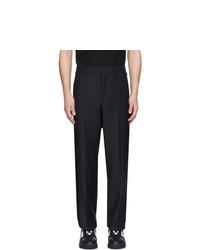 Pantalon chino en laine bleu marine Valentino