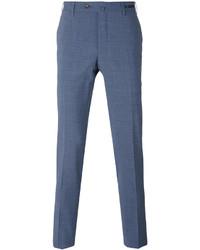 Pantalon chino en laine bleu Pt01