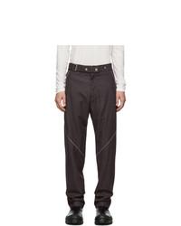 Pantalon chino en laine bordeaux
