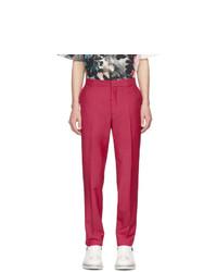 Pantalon chino en laine fuchsia Alexander McQueen