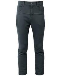 Pantalon chino en laine gris foncé