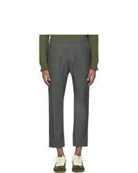 Pantalon chino en laine gris foncé Barena