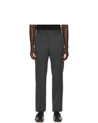 Pantalon chino en laine gris foncé Bottega Veneta