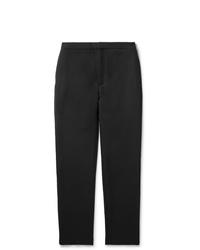 Pantalon chino en laine gris foncé Camoshita