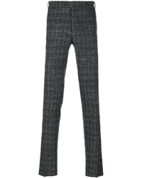 Pantalon chino en laine gris foncé Canali