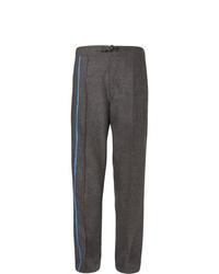 Pantalon chino en laine gris foncé Dunhill