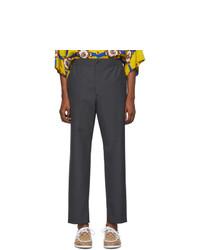 Pantalon chino en laine gris foncé Gucci