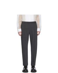 Pantalon chino en laine gris foncé Helmut Lang