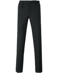 Pantalon chino en laine gris foncé Incotex