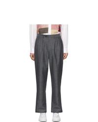 Pantalon chino en laine gris foncé Junya Watanabe