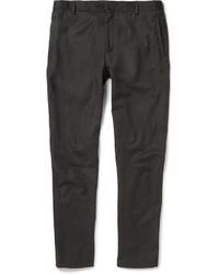 Pantalon chino en laine gris foncé Lanvin