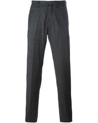 Pantalon chino en laine gris foncé Lardini