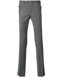 Pantalon chino en laine gris foncé Pt01
