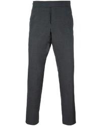 Pantalon chino en laine gris foncé Thom Browne