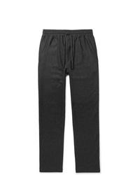 Pantalon chino en laine gris foncé YMC
