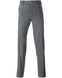 Pantalon chino en laine gris
