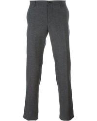 Pantalon chino en laine gris Etro