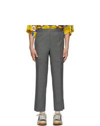 Pantalon chino en laine gris Gucci
