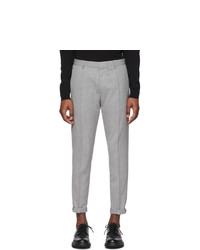 Pantalon chino en laine gris Hugo